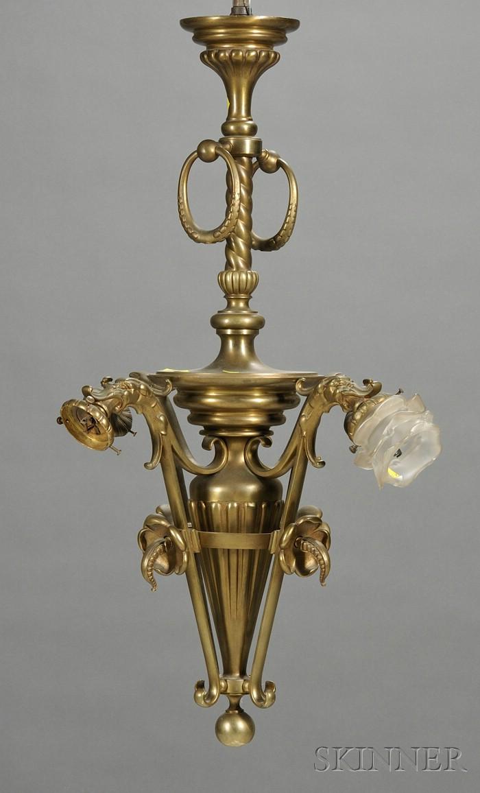 Renaissance Revival Bronze Four-light Chandelier