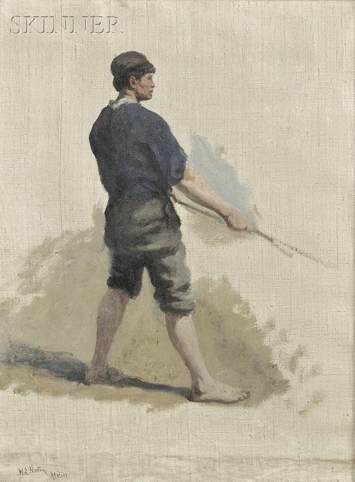 William Edward Norton and Studio (Anglo/American, 1843-1916)      Lot of Three Figure Studies