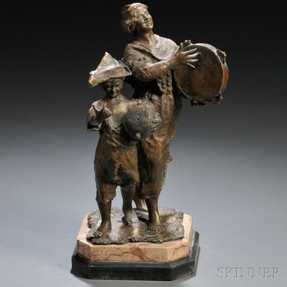 Bronze Figure of Peasant Musicians