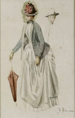 Bernard Louis Borione (French, b. 1865)  Female Costume Sketch