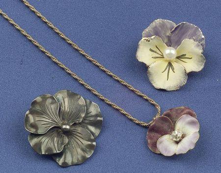 Three Flower Jewelry Items