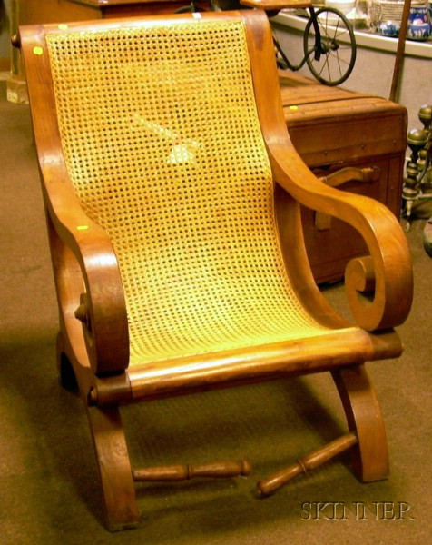 British Colonial-style Caned Hardwood Easy Chair.