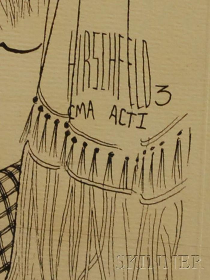 Al (Albert) Hirschfeld (American, 1903-2003)      Lot of Three Works: CMA Act I, II