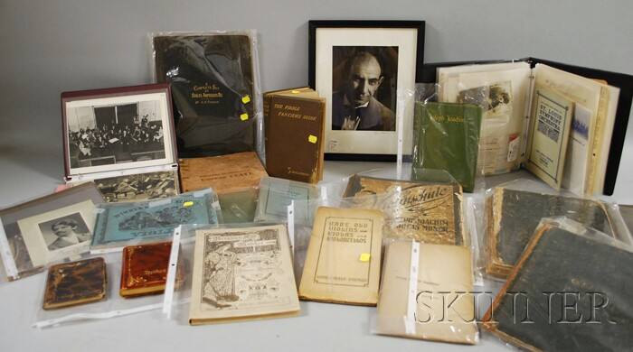 Archive of Edouard Hesselberg (Pianist) and Rhetia Hesselberg (Violinist) Related   Material
