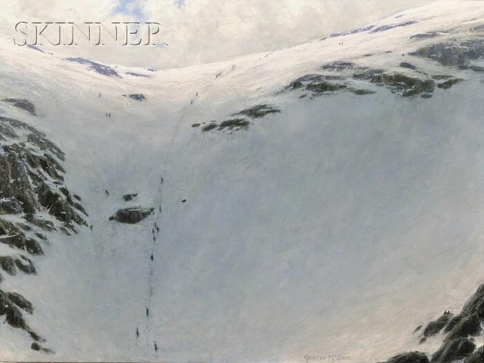 Joseph McGurl (American, b. 1958)      The Whiteness, Tuckerman  /  A Mt. Washington, New Hampshire, Ravine