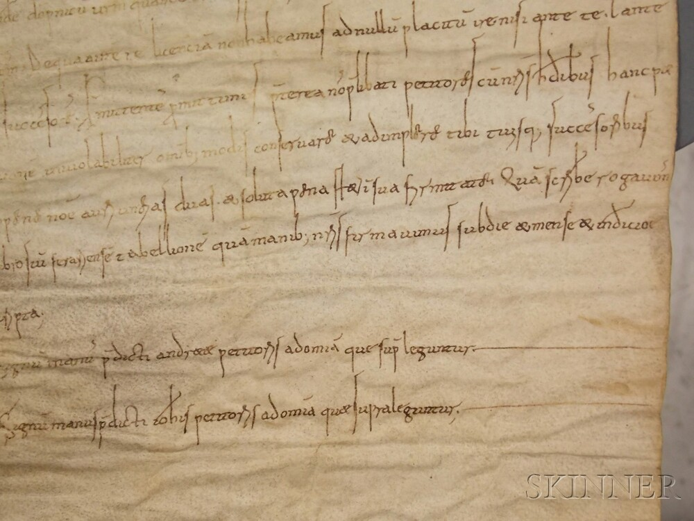 Medieval Parchment Document, Ravenna Italy, 1081.
