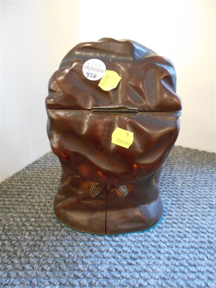 Carved and Ebonized Wood Blackamoor Tobacco Jar