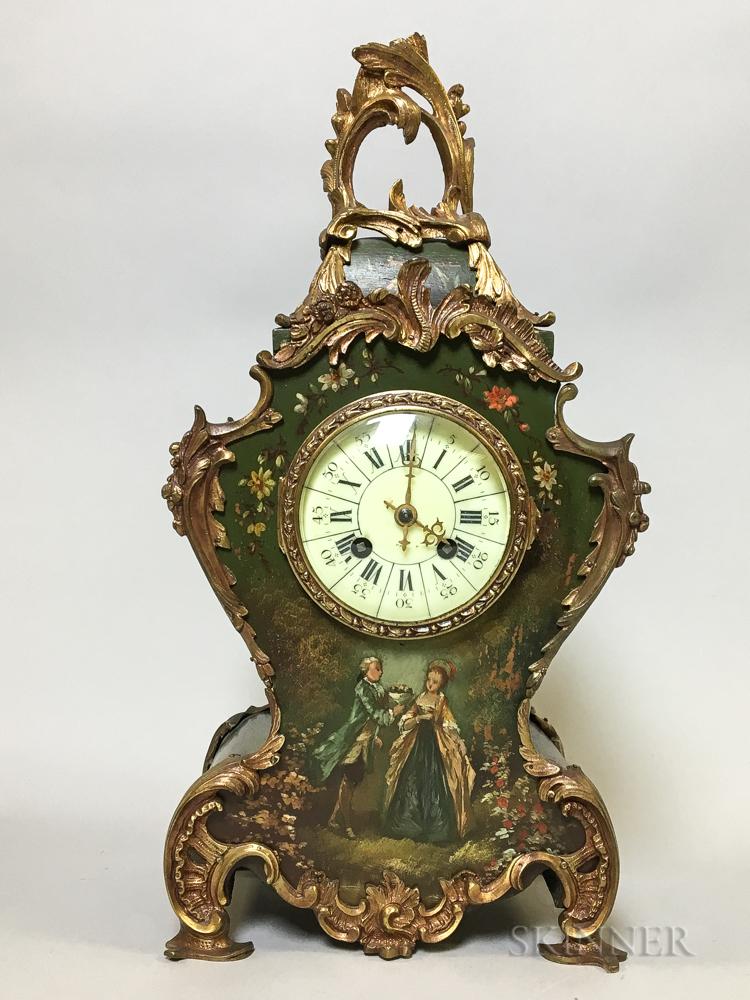 Tiffany & Co. Ormolu-mounted Mantel Clock