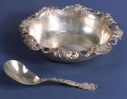 Tiffany & Co. Sterling Berry Bowl and Spoon