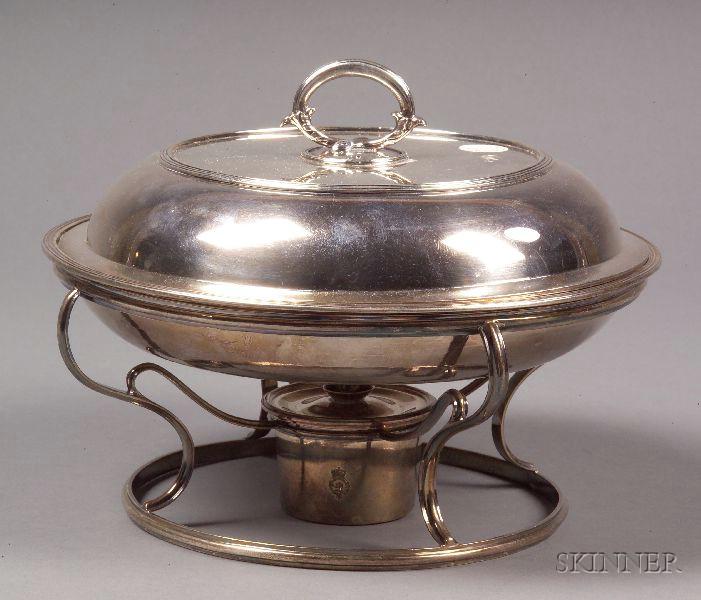 Assembled English Silver Chafing Dish