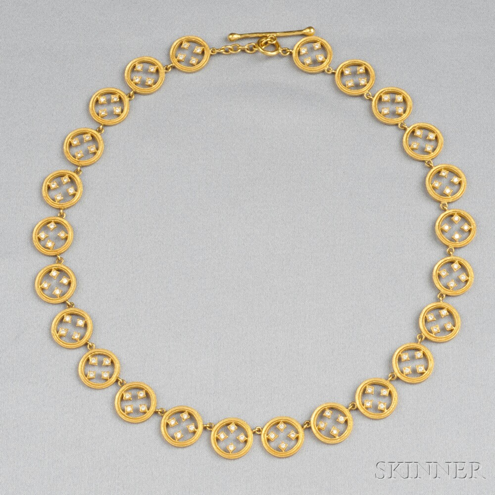 schlumberger gold anklet bracelet lot news co tiffany estimate