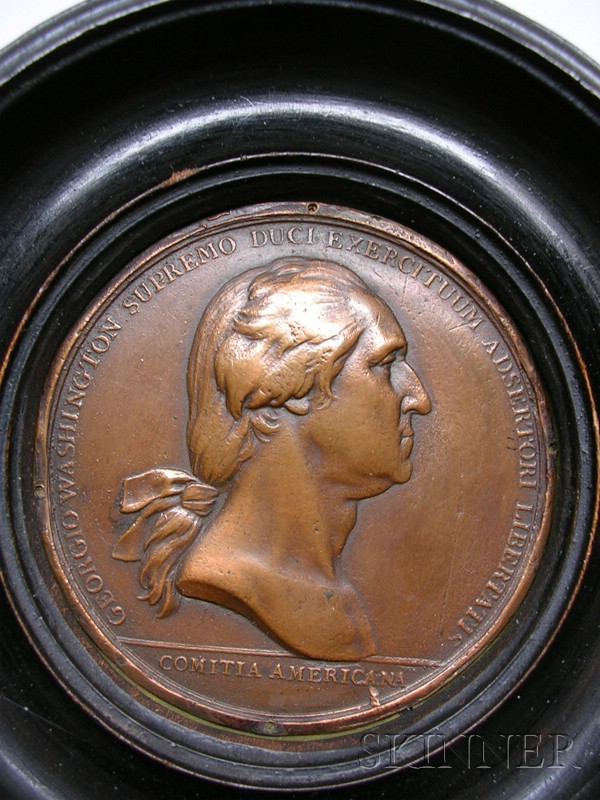Bronze Medallion with Bust of George Washington