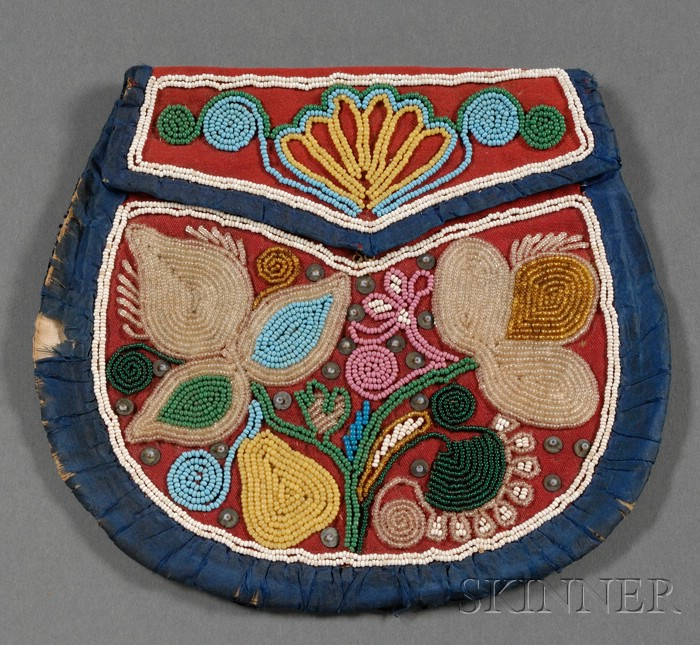 Northeast Beaded Cloth Pouch