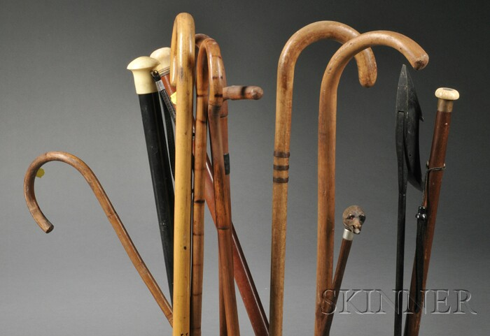 Group of Twelve Canes