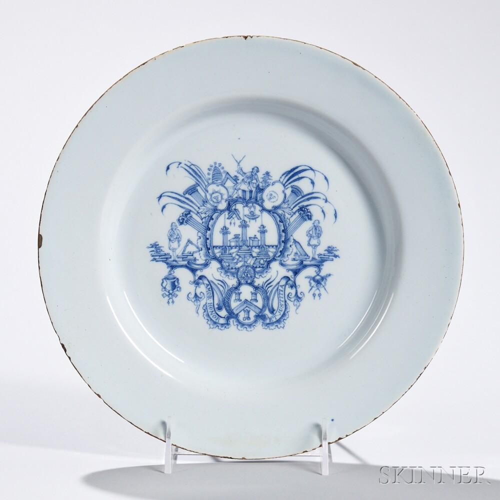 Tin-glazed Earthenware Freemason Dish