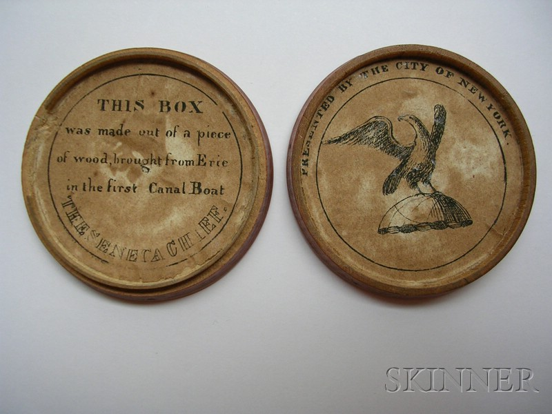 Silver Commemorative Medal of the Completion of the Erie Canal with Original Box