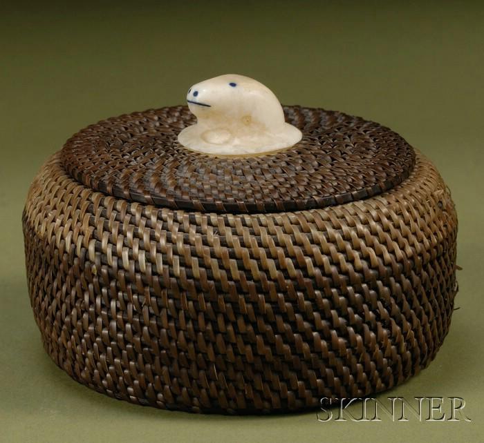 Northeast Baleen Lidded Basket