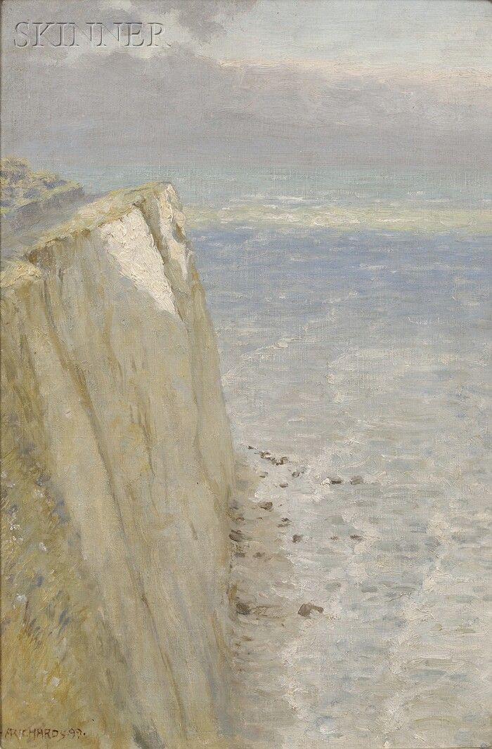 Anna Mary Richards Brewster (American, 1870-1952)      Chalk Cliffs, The Isle of Wight