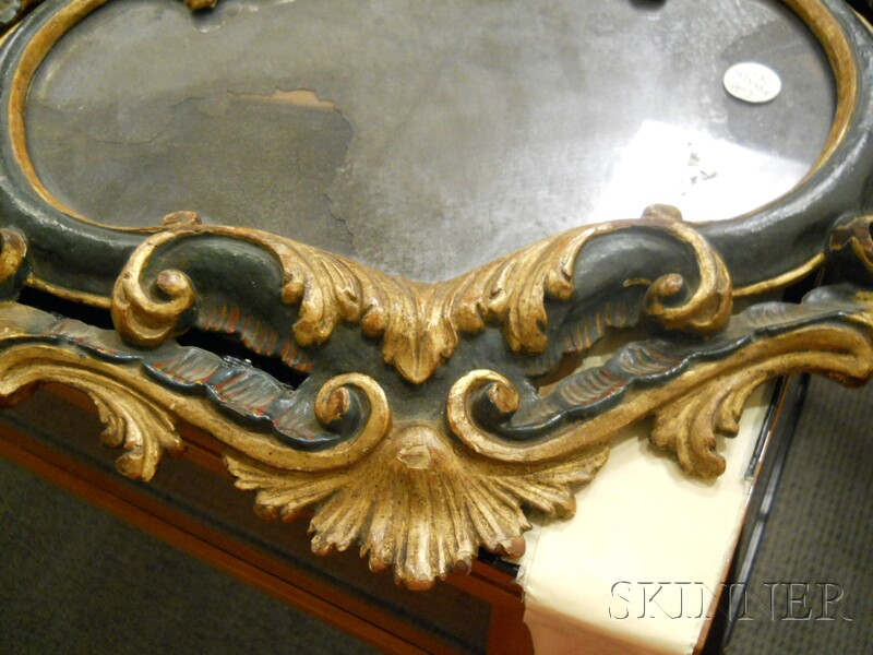 French Painted and Gilded Mirror
