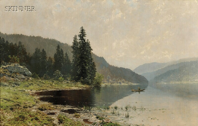 Ludvig Skramstad (Norwegian, 1855-1912)      From Nordmarken, Norway