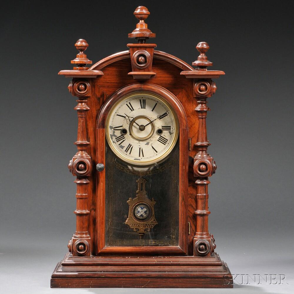 """Welch """"Patti V.P."""" Rosewood Shelf Clock"""