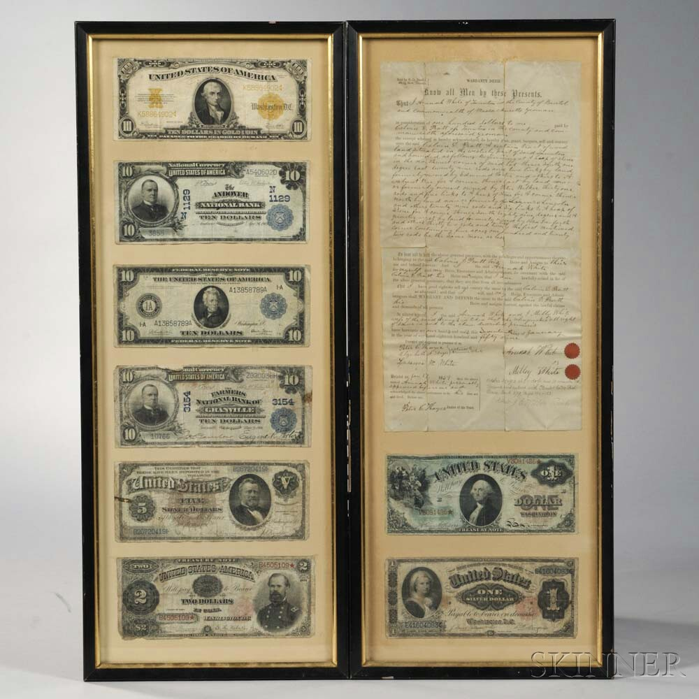 Two Framed Groups of Banknotes