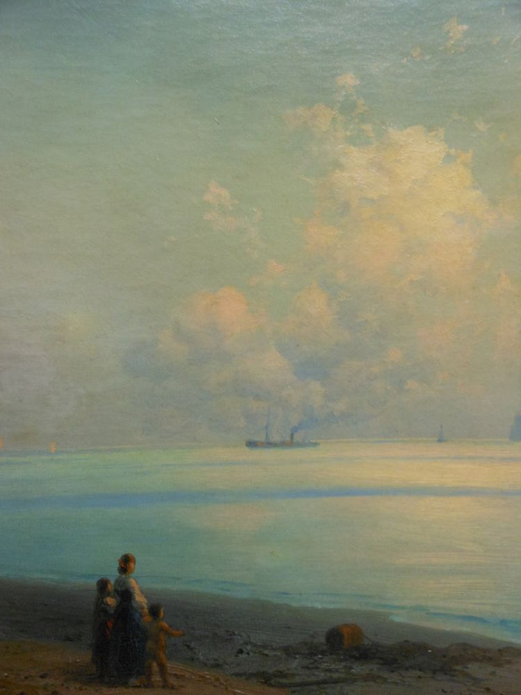 Ivan Konstantinovich Aivazovsky (Russian, 1817-1900)      Along the Coast, Capri