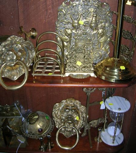 Large Group of Miscellaneous Brass and Metal Decorative Accessories, Fixtures, and Elements.