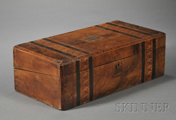 Victorian Inlaid Mahogany Lap Desk