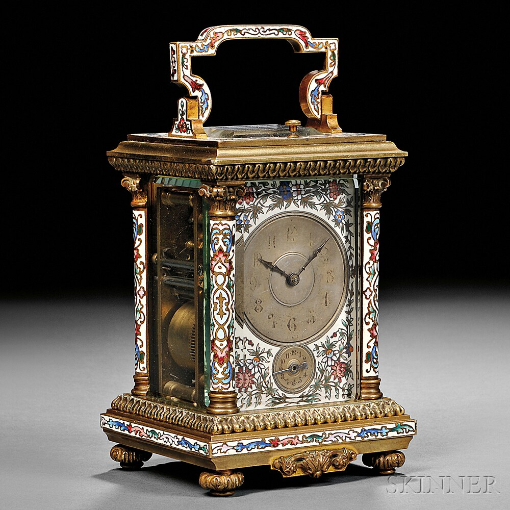 Champleve Hour-repeating Carriage Clock