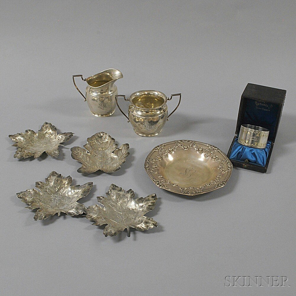 Small Group of Sterling Silver and Silver-plated TablewareSmall Group of...