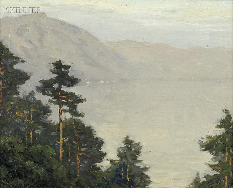 Charles Warren Eaton (American, 1857-1937)      Lake Como