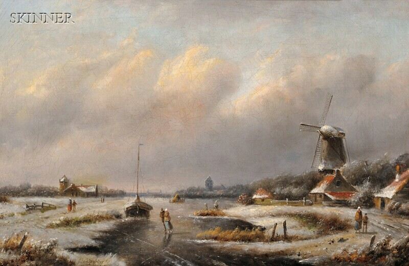 Attributed to Jan Jacob Coenraad Spohler (Dutch, 1837-1923)      Winter Day