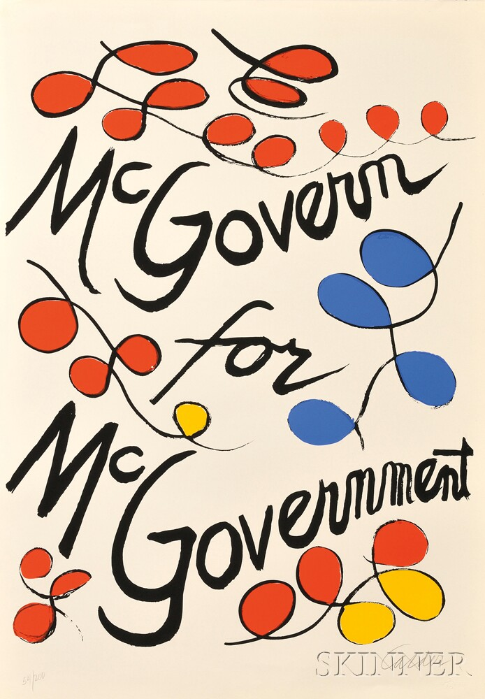 Alexander Calder (American, 1898-1976)      Two Different Versions of McGovern for McGovernment