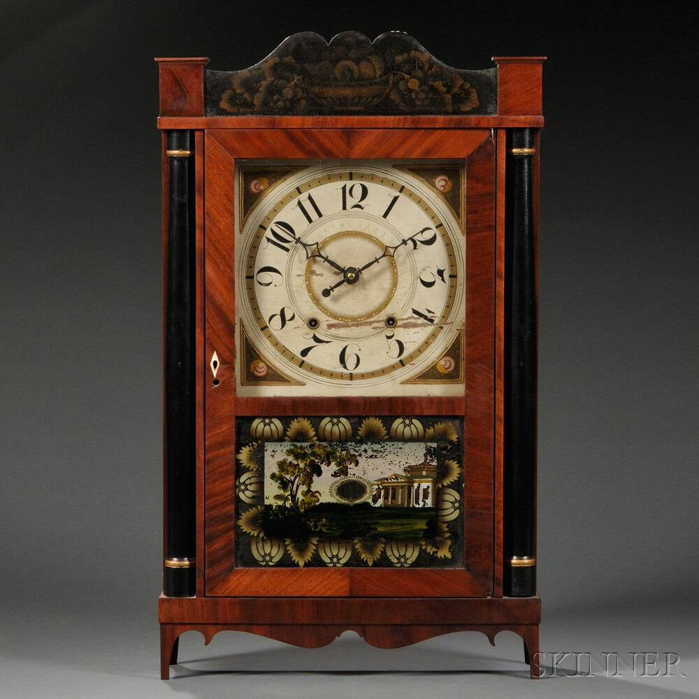 Silas Hoadley Transitional Shelf Clock