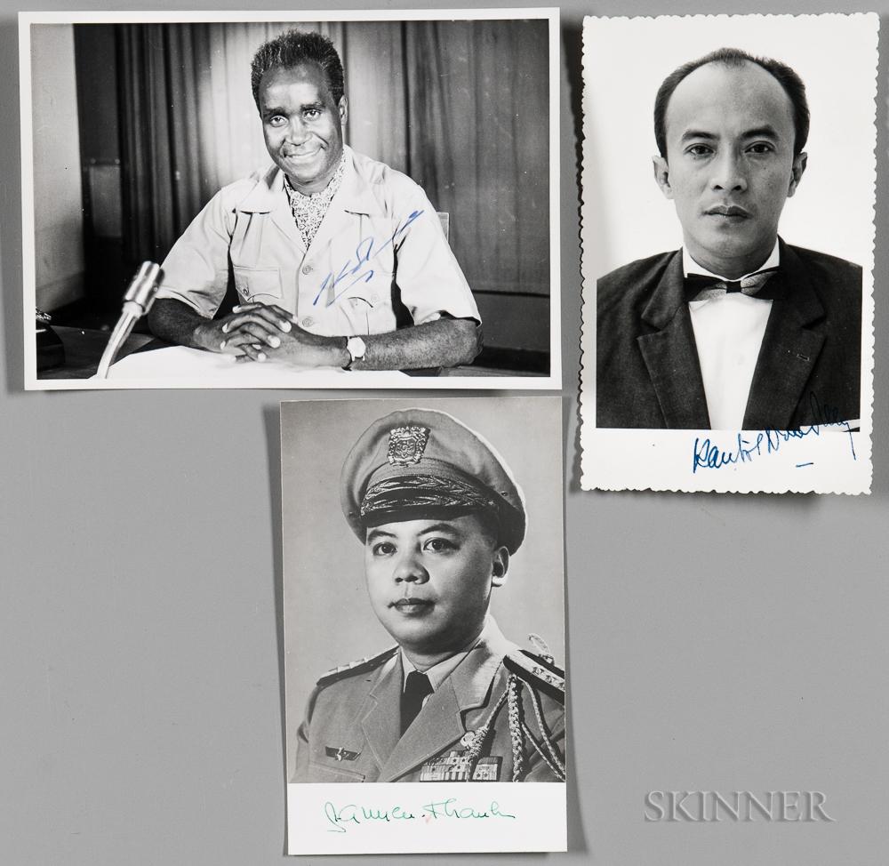 International Leaders, Three Signed Photographs.
