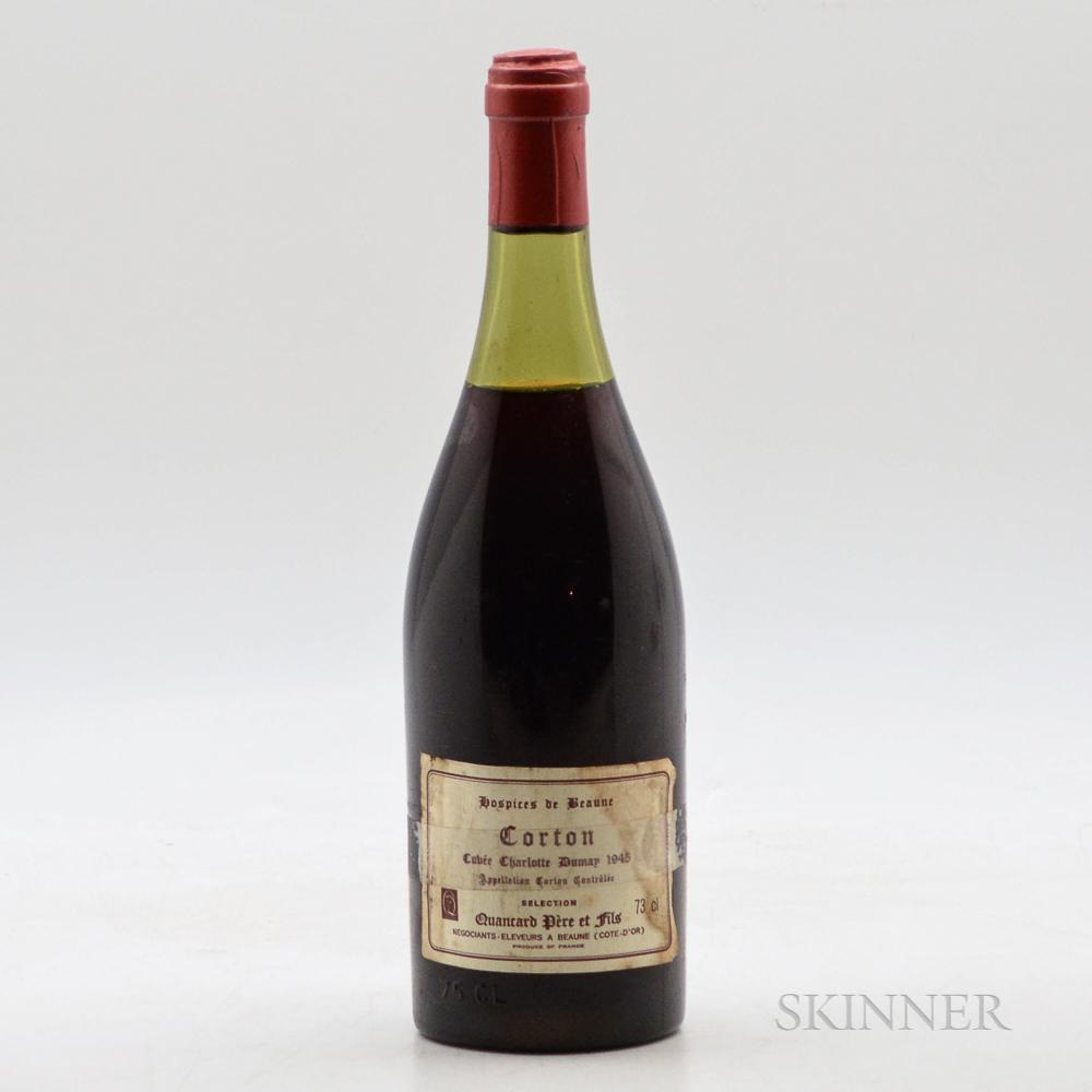 Hospices de Beaune Corton Cuvee Charlotte Dumay 1945, 1 bottle