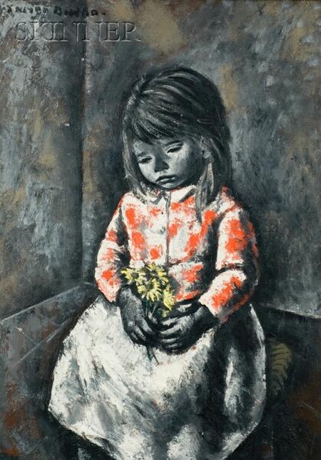 Xavier Bueno (Italian, 1915-1979)    Girl with Flowers