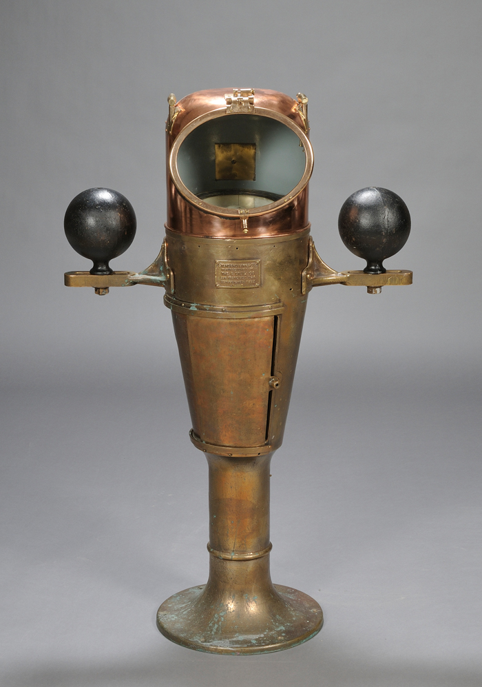 Realized Price For Brass And Copper Ship Binnacle