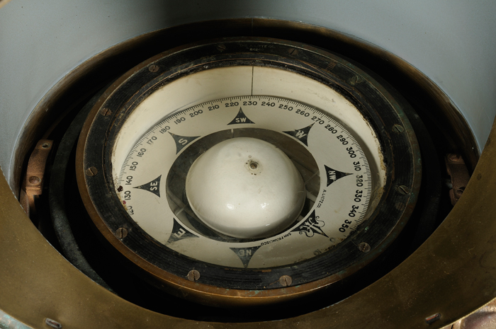Brass and Copper Ship Binnacle Compass by A. Leitz Company