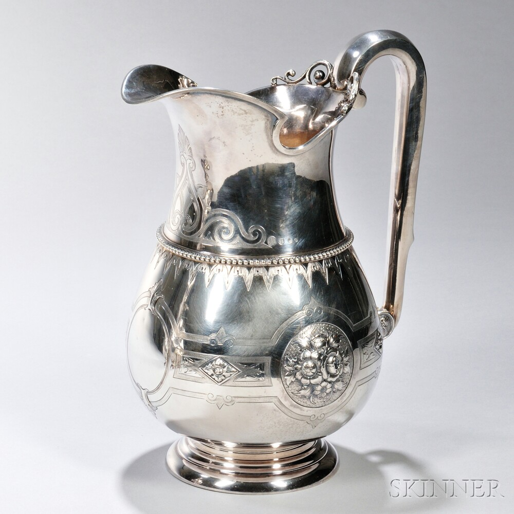 Albert Coles Coin Silver Pitcher