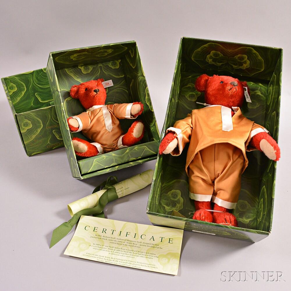 Steiff Alfonzo and Baby Alfonzo Replica Mohair Teddy Bears