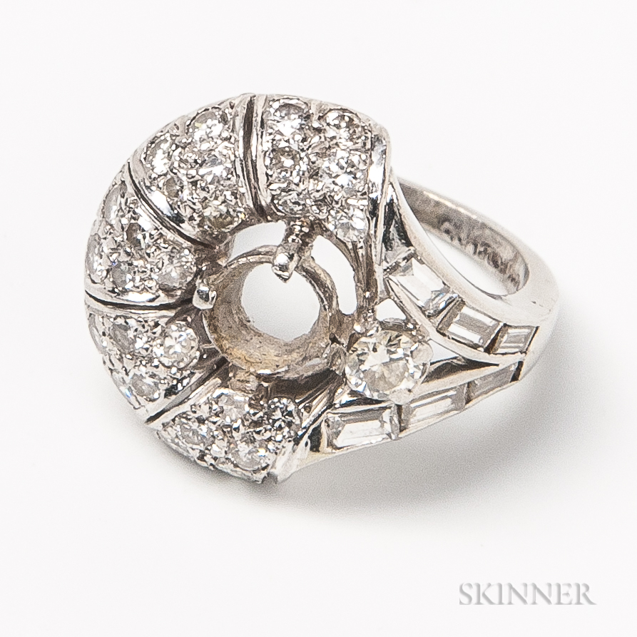 Platinum and Diamond Ring Mount