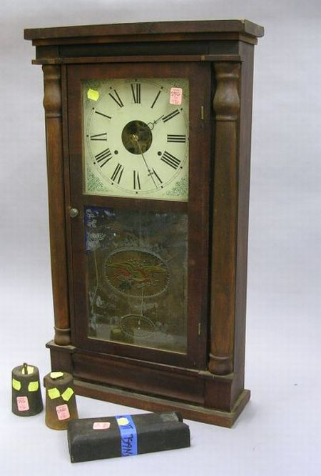 Seth Thomas Half Column Mahogany Veneered Shelf Clock