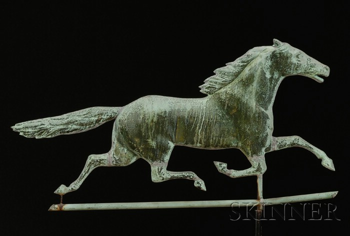 Molded Copper Running Horse Weather Vane
