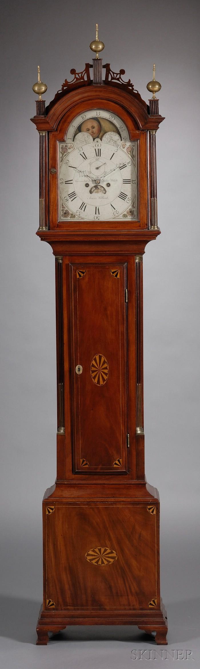 Federal Mahogany Inlaid Tall Case Clock