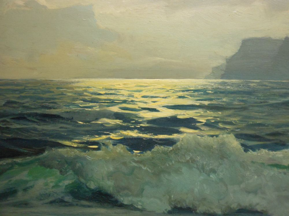 Frederick Judd Waugh (American, 1861-1940)      Sunset at Sea