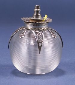 Victorian Silver and Colorless Glass Spirit Lamp