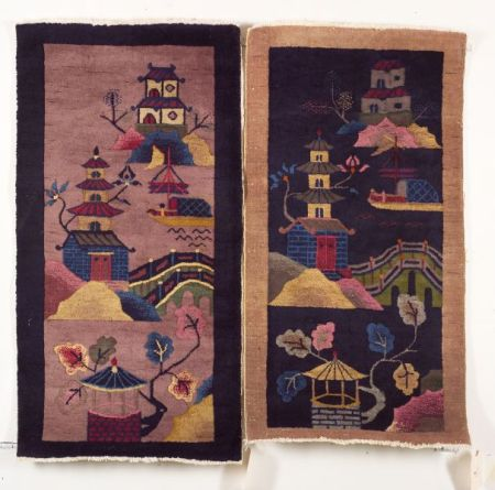 Two Nichols Chinese Pictorial Rugs