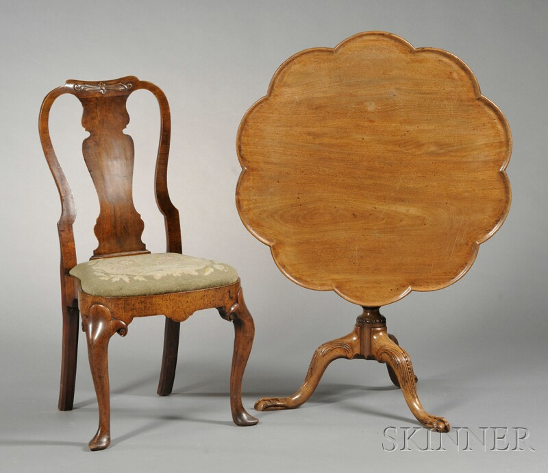 Queen Anne-style Side Chair and a George II-style Tea Table